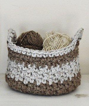 free basket crochet pattern- crochet pattern amorecraftylife.com #crochet #crochetpattern