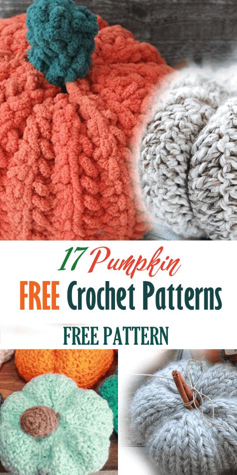 free crochet pumpkin patterns - amorecraftylife.com -crochet pattern chunky pattern #crochet #crochetpattern #freecrochetpattern