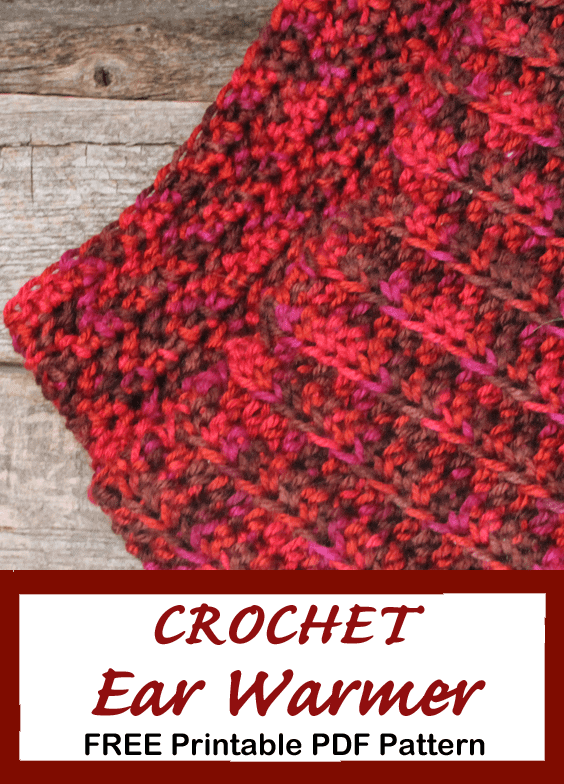 double thick Crochet ear warmer Headband pattern - Free Pattern -crochet ear warmer pattern- printable pdf - winter headband - amorecraftylife.com #crochet #crochetpattern #freecrochetpattern