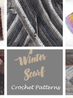 Pick one of these free winter crochet scarf patterns for your next crochet project -amorecraftylife.com #crochet #crochetpattern #freecrochetpattern