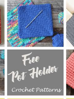 crochet pot holder pattern free- crochet hot pad amorecraftylife.com #crochet #crochetpattern #diy #freecrochetpattern