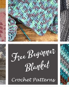 Learn to crochet a blanket. easy crochet blanket pattern for beginners - amorecraftylife.com - afghan pattern -crochet blanket pattern- caron chunky cake yarn- double crochet - free printable crochet pattern #crochet #crochetpattern #freecrochetpattern