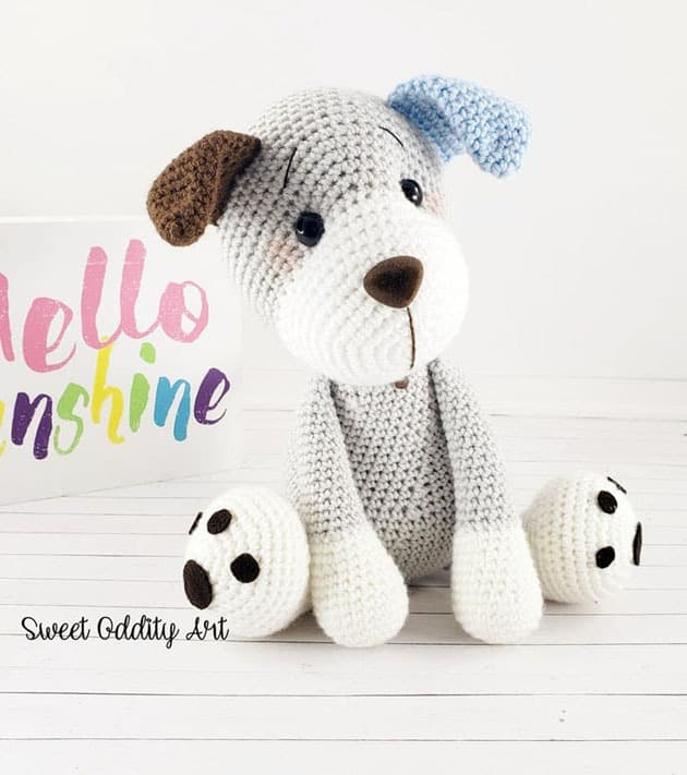 charlie the dog crochet pattern - amigurumi - animal crochet pattern #crochet #crochetpattern
