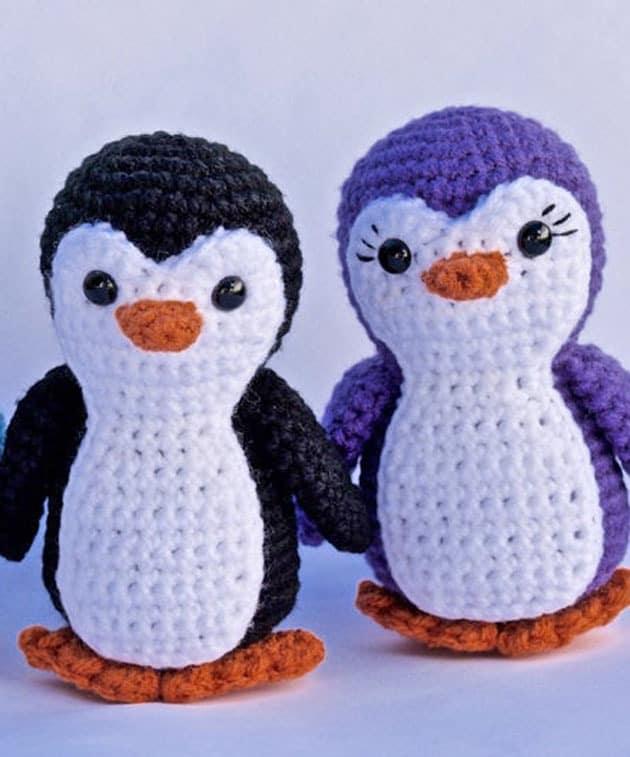 Make a cute penguin. penguin crochet pattern - amorecraftylife.com #crochet #crochetpattern