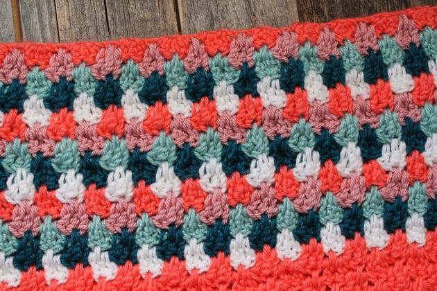 easy crochet blanket pattern free PDF - teardrop stitch -amorecraftylife.com - afghan pattern -crochet blanket pattern- red heart yarn- double crochet - free printable crochet pattern #crochet #crochetpattern #freecrochetpattern