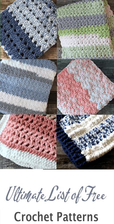 Ultimate list of free crochet patterns - amorecraftylife.com - #crochet #crochetpattern #freecrochetpattern