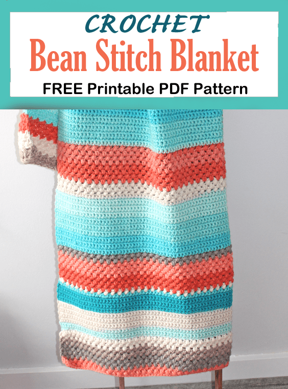 bean stitch crochet blanket pattern free PDF - -amorecraftylife.com - afghan pattern -crochet blanket pattern- caron cake yarn- double crochet - free printable crochet pattern #crochet #crochetpattern #freecrochetpattern
