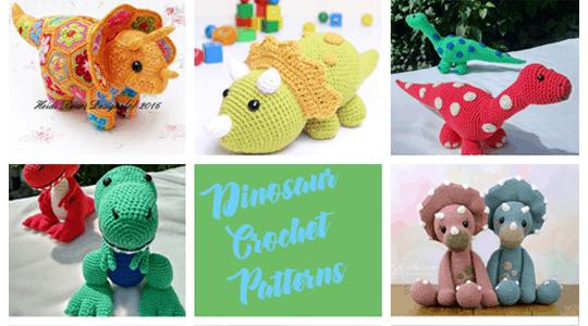 dinosaur crochet patterns - crochet pattern pdf - amigurumi -animal crochet pattern- amorecraftylife.com #crochet #crochetpattern #amigurumi