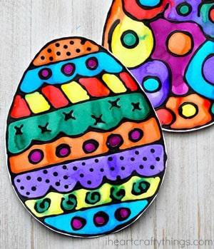 easter kid crafts - spring crafts for kids - kid craft -#kidscraft #preschool #craftsforkids amorecraftylife.com