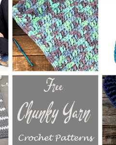 free chunky crochet patterns - amorecraftylife.com - afghan pattern -crochet blanket pattern- #crochet #crochetpattern #freecrochetpattern