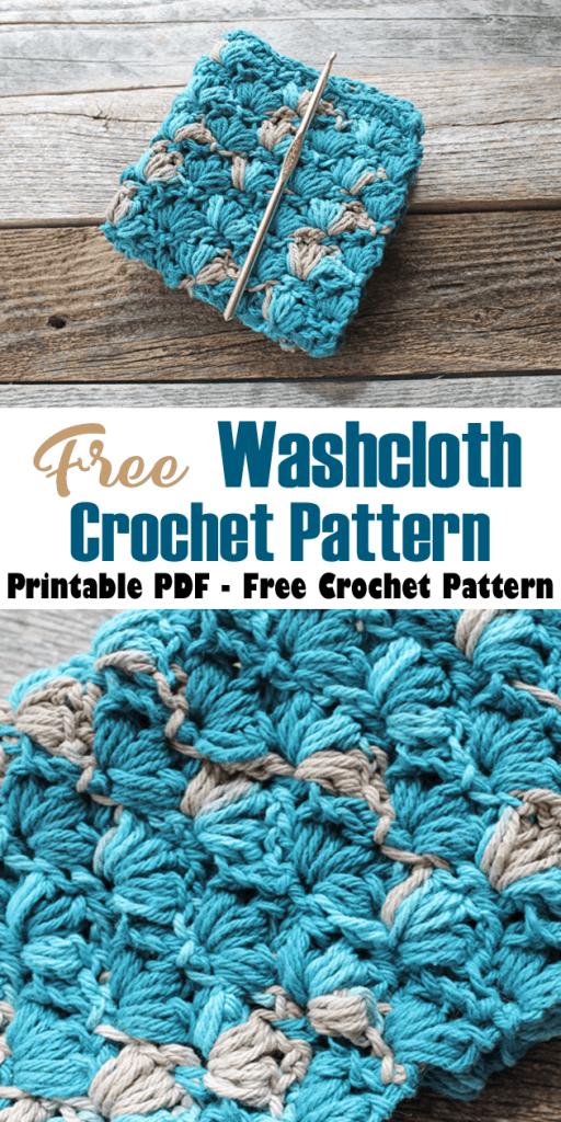 lotus stitch crochet dishcloth pattern - free printable pdf - amorecraftylife.com #crochet #crochetpattern #freecrochetpattern