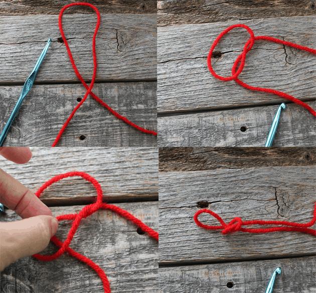 how to tie a slip knot - learn to crochet -beginner crochet tutorials - amorecraftylife.com