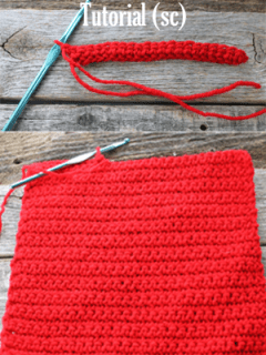 learn to do the single crochet stich (sc) -how to crochet beginner crochet tutorials - amorecraftylife.com