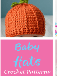 baby hat Crochet pattern - A More Crafty Life #baby #crochet #crochetpattern #crochethat