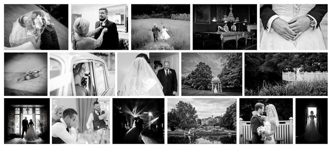 Black-and-white-wedding-photography-montage