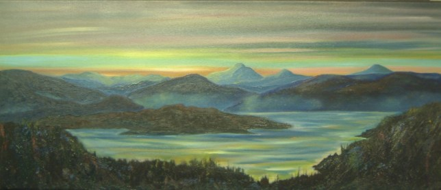 The island of Skye with Sunset