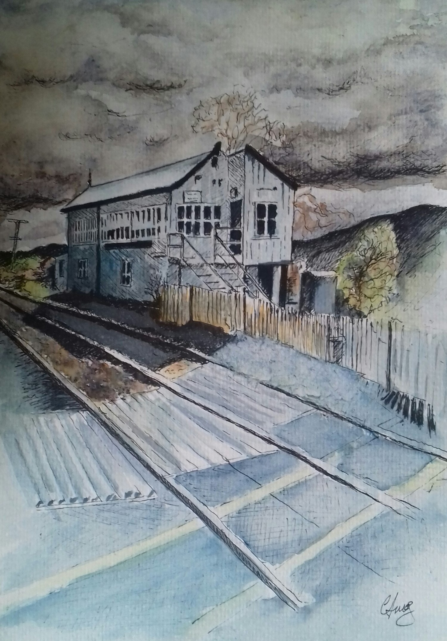 The Signal Box - Watercolour