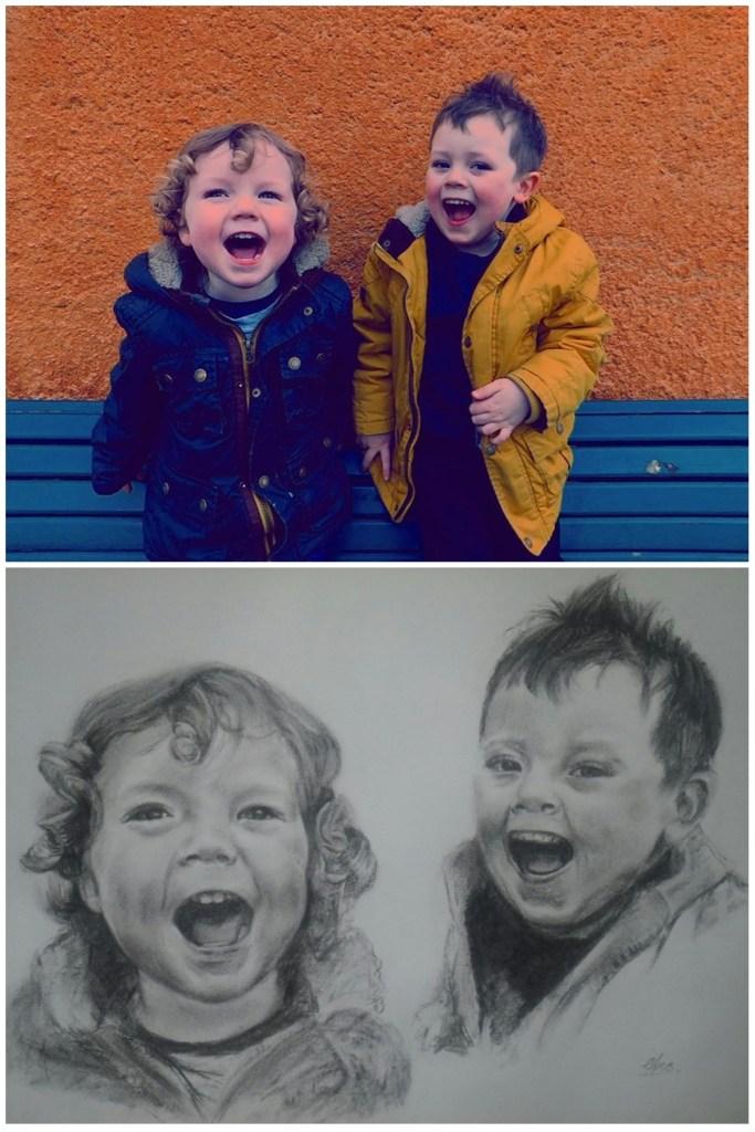 Comparison portrait to photo Amosartworks