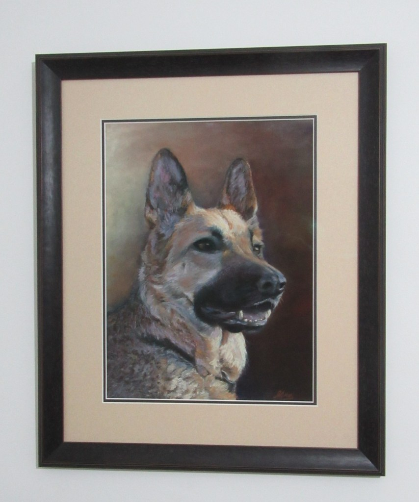 pet portrait framed