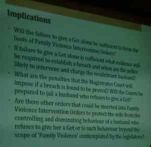 Faigenbaum on implications of Australian Family VIolence law on get refusal