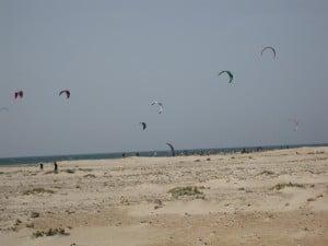 Kitesurfing or Tisha Yarchei Leida