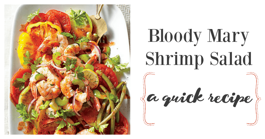 Quick Recipe for Tomato Salad with Pickled Shrimp                              1