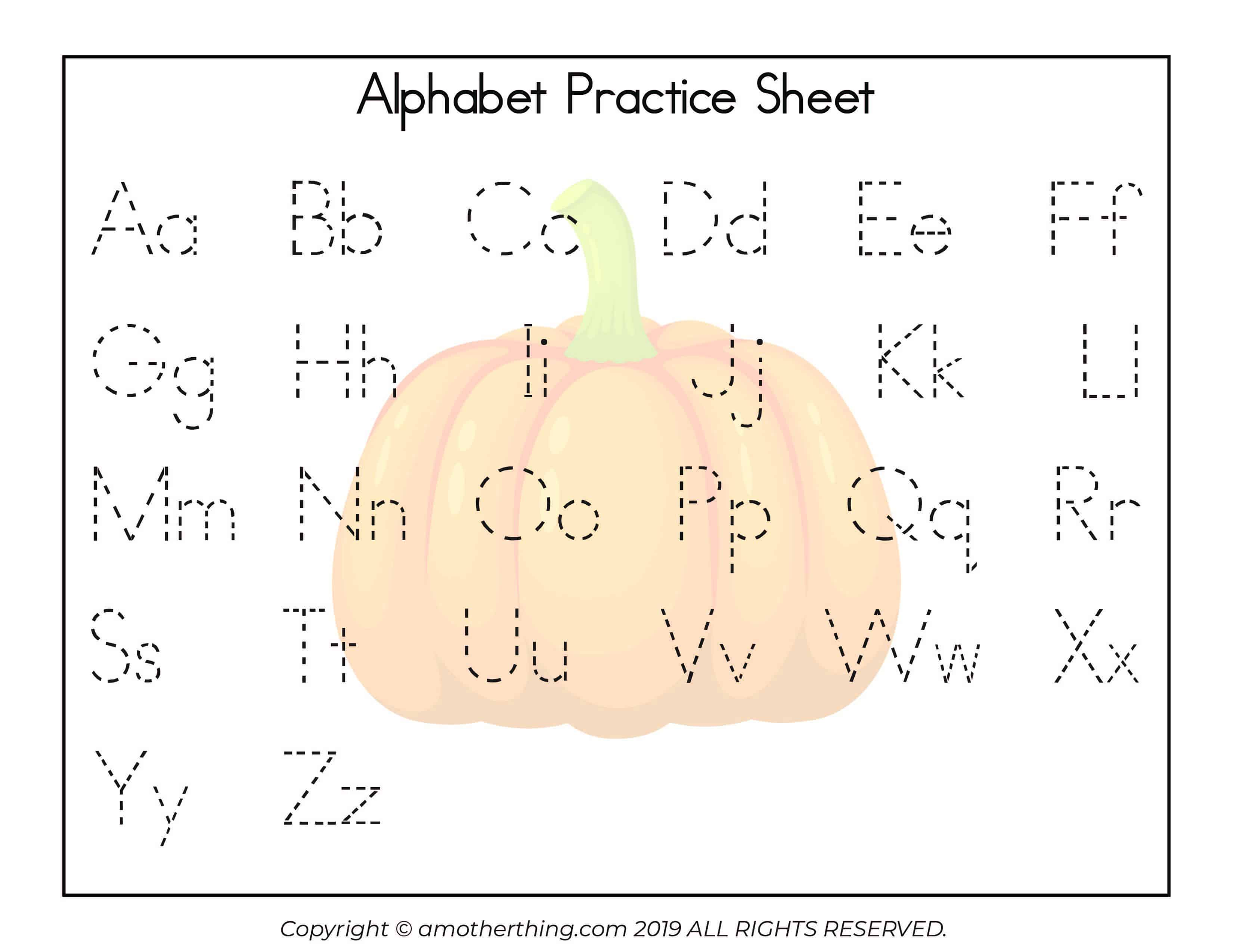 Free Printable Autumn Abc Writing Practice Worksheets