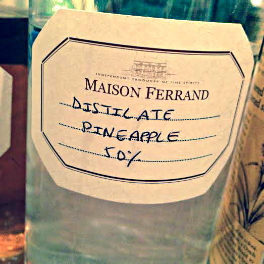 Plantation distillate for the pineapple rum