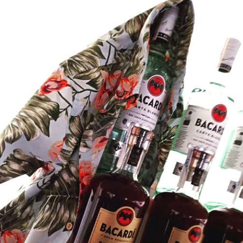 Paradise Lost seminar Aloha shirt and rum