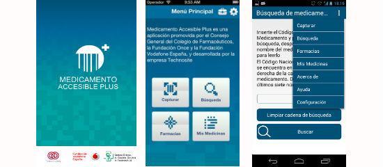 Capturas de pantalla de la app Medicamento Accesible Plus