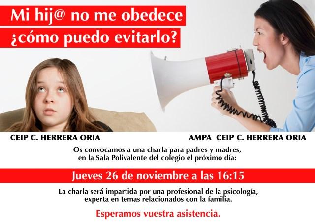 charla Obedecer