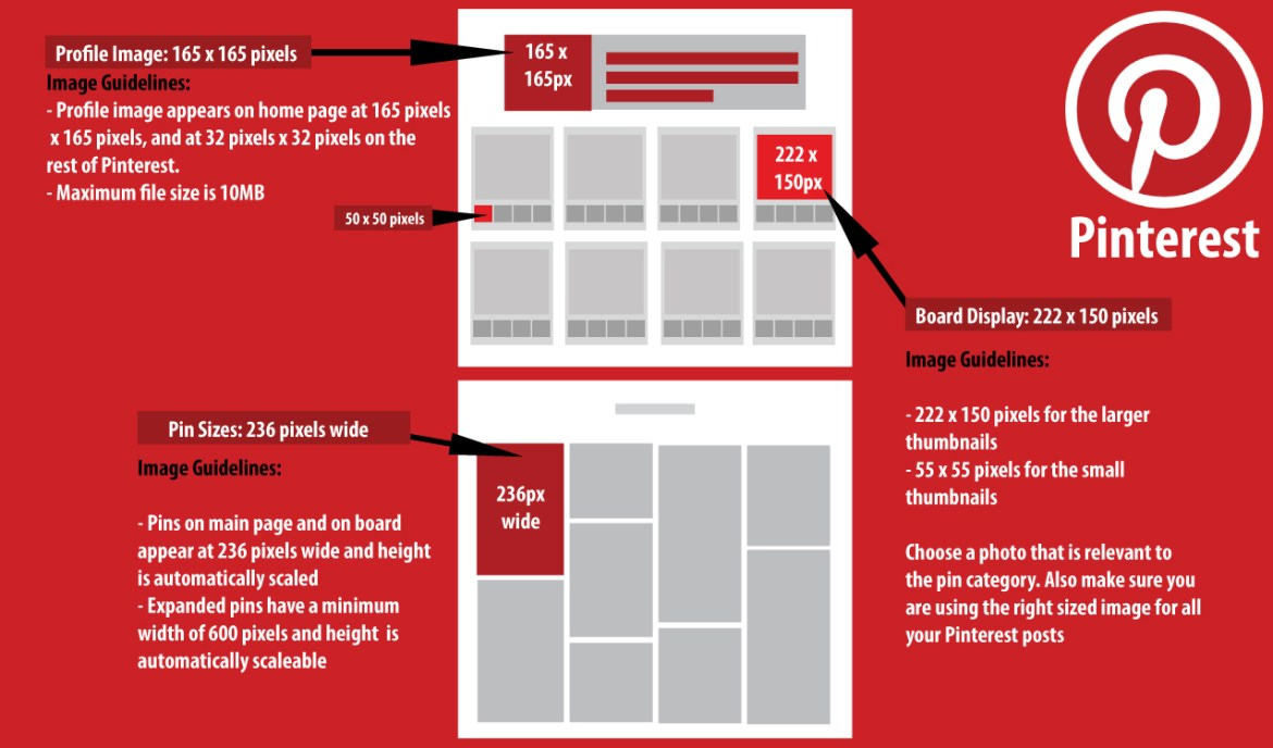 Pinterest Image Sizes