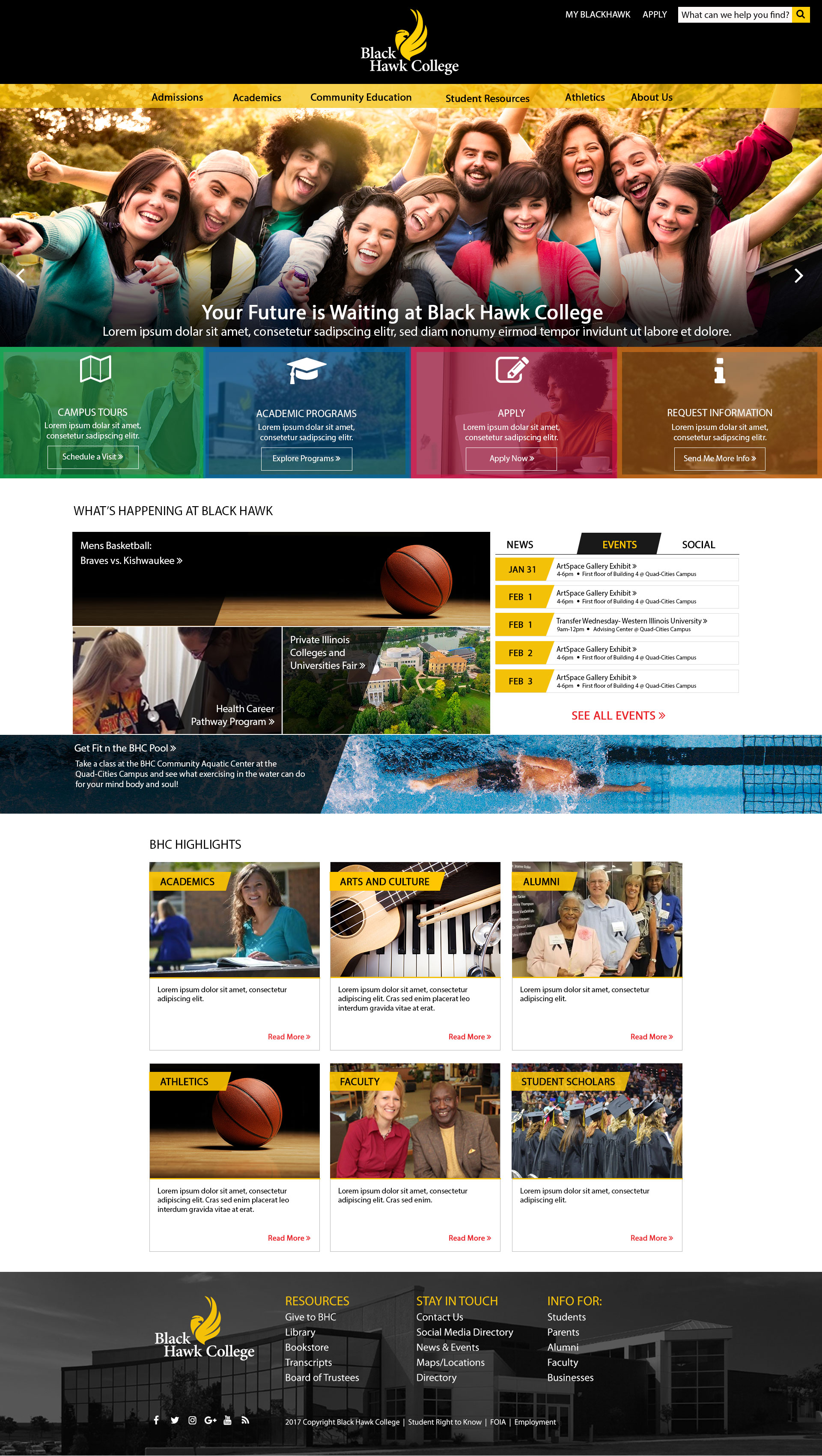Black Hawk College - Homepage