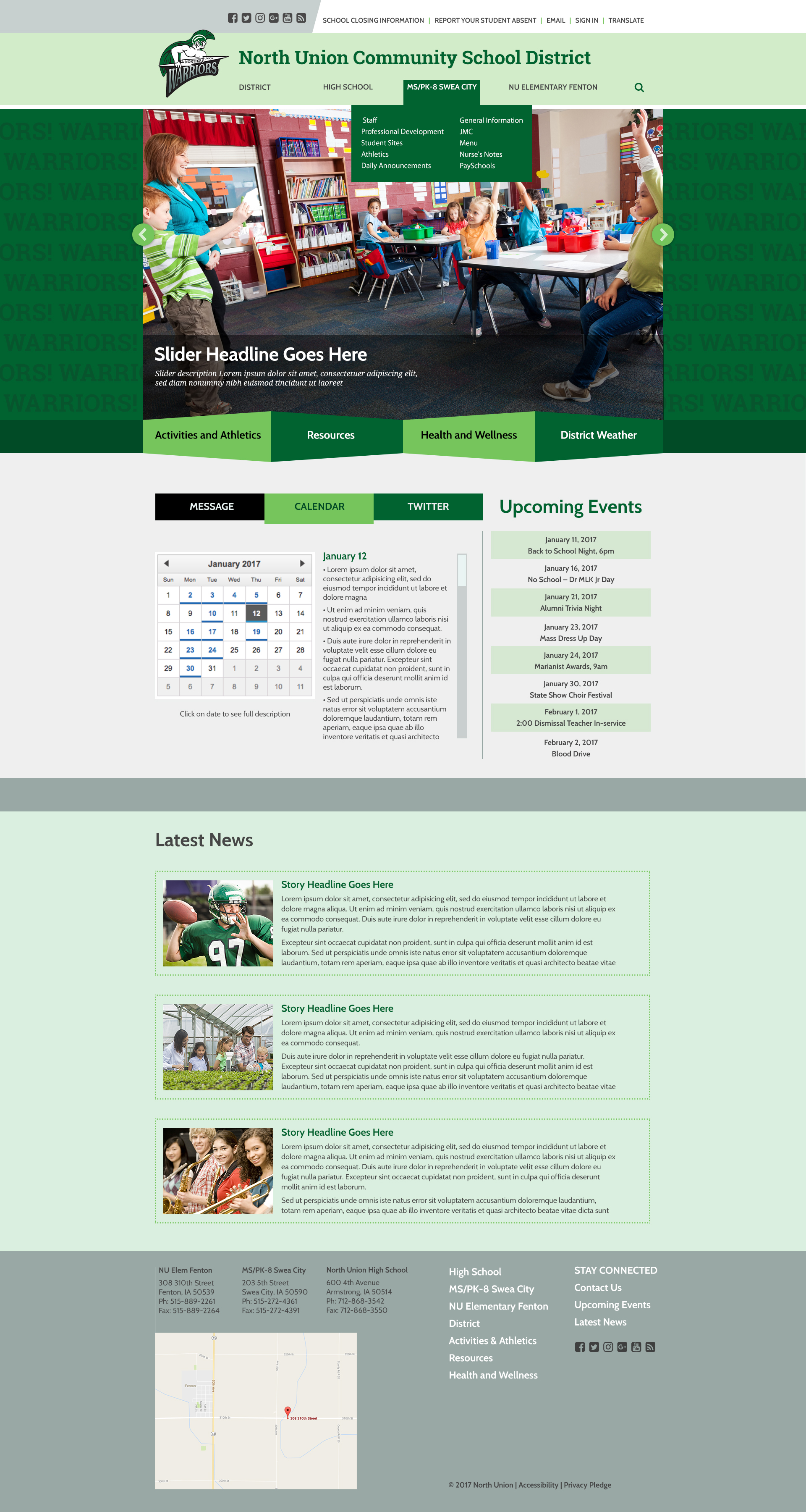 Design #1 - Homepage with Hover