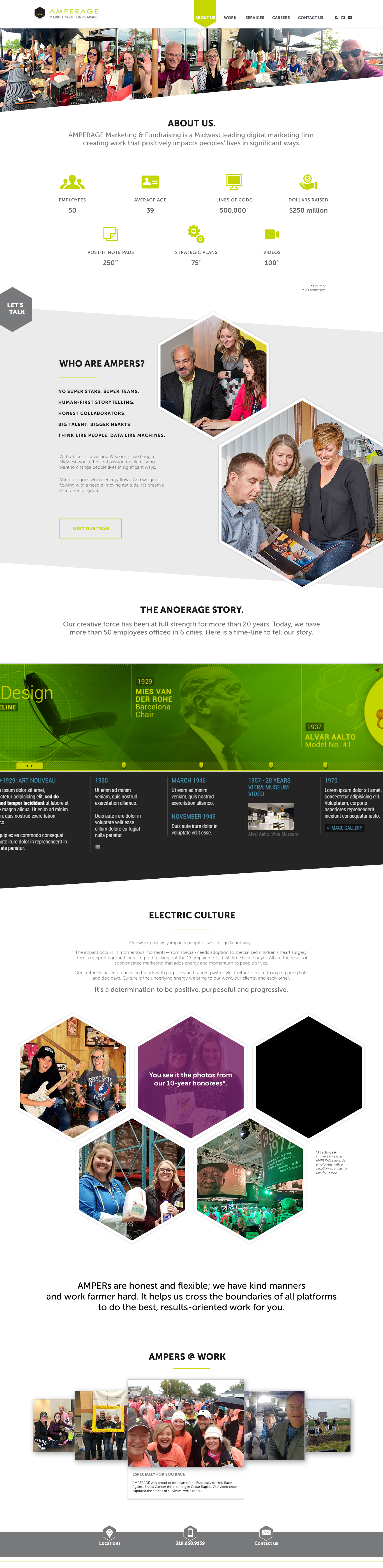 AMPERAGE About Us Subpage