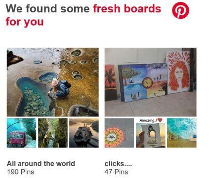 Pinterest Fresh content board