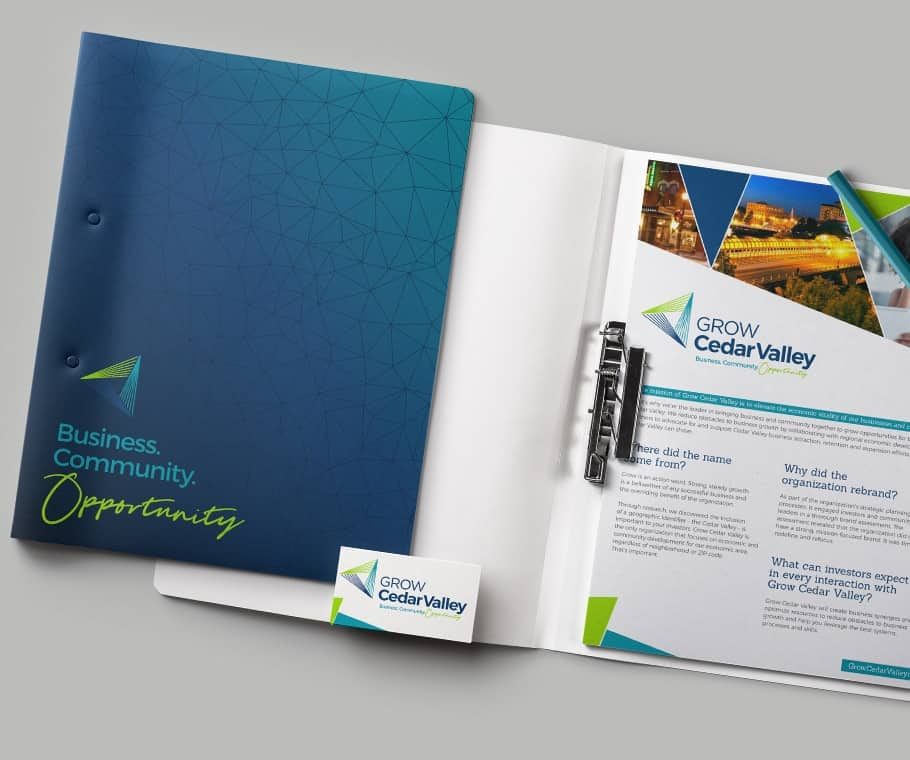 Grow Cedar Valley Branding