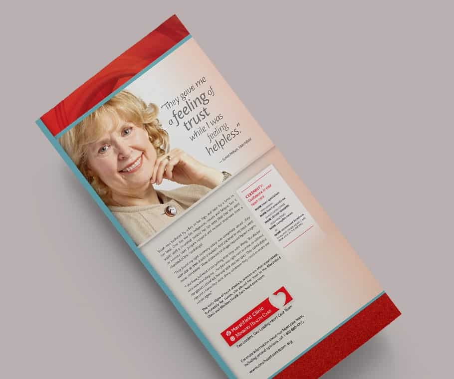 "Marshfield Clinic and Ministry Health Care Heart Care Team ""Certainty"" Marketing Campaign"