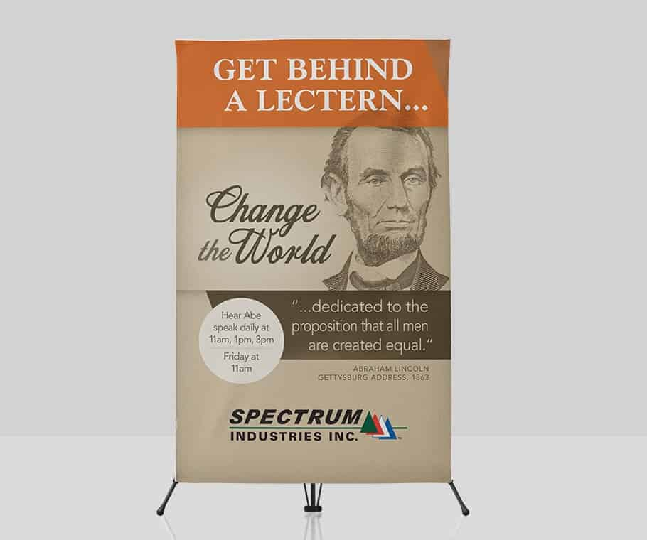"Spectrum Industries ""Change the World"" Trade Show Theme & Campaign"