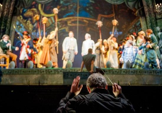 "James Conlon leads the orchestra in ""Ghosts."" | Ben Gibbs/LA Opera"