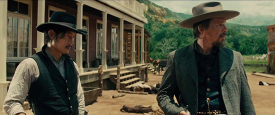 Ethan Hawke and Byung-hun Lee in The Magnificent Seven (Village Roadshow Pictures)