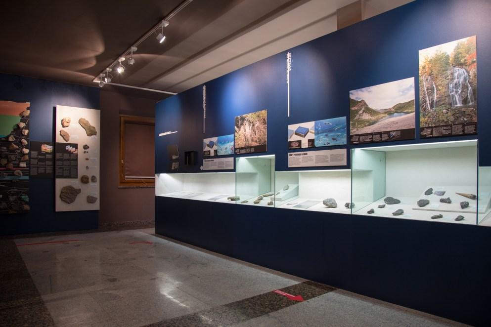 Sala del Museo Geologico di Ampezzo