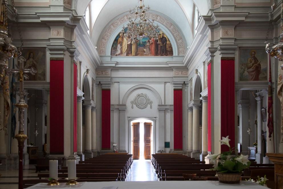 Interno della Chiesa parrocchiale di Ampezzo Carnico