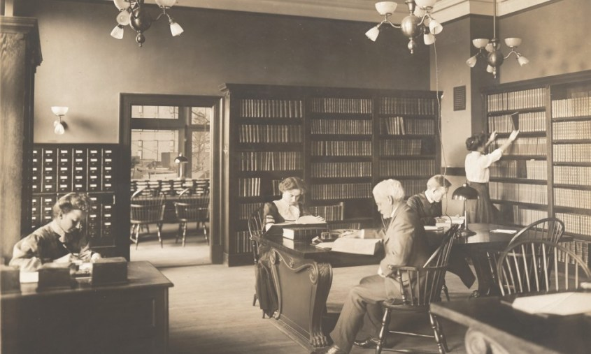 Readers in a reading room