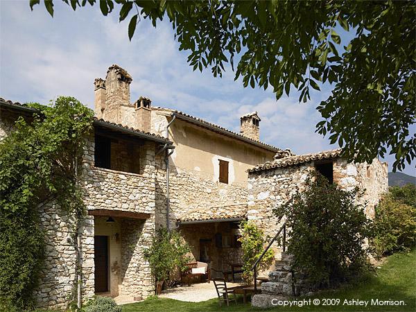 Claudia & Francesco Bachetoni's villa near Spoleto in Italy.