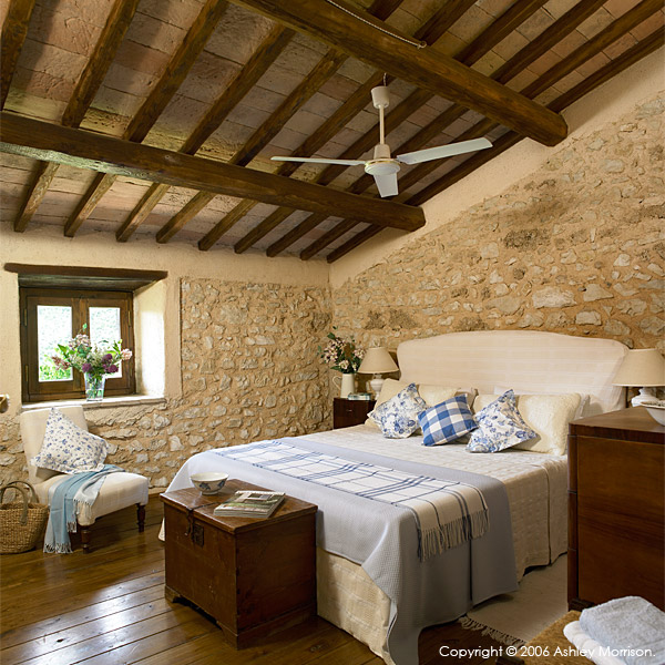 Main bedroom in La Roccia villa.