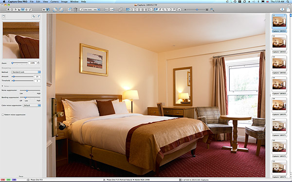 One of the first pictures taken in the standard double bedroom at the rear of the Hodson Bay Hotel near Athlone.