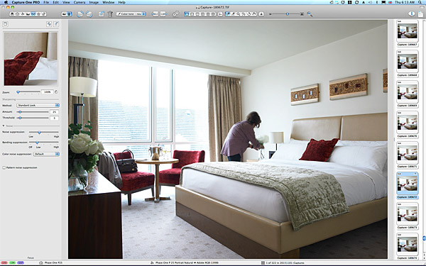 One of the first pictures taken in the Retreat Standard bedroom at the Hodson Bay Hotel.