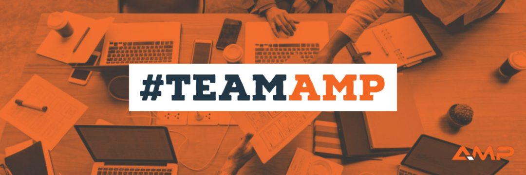 Orange Hastag Team AMP Banner