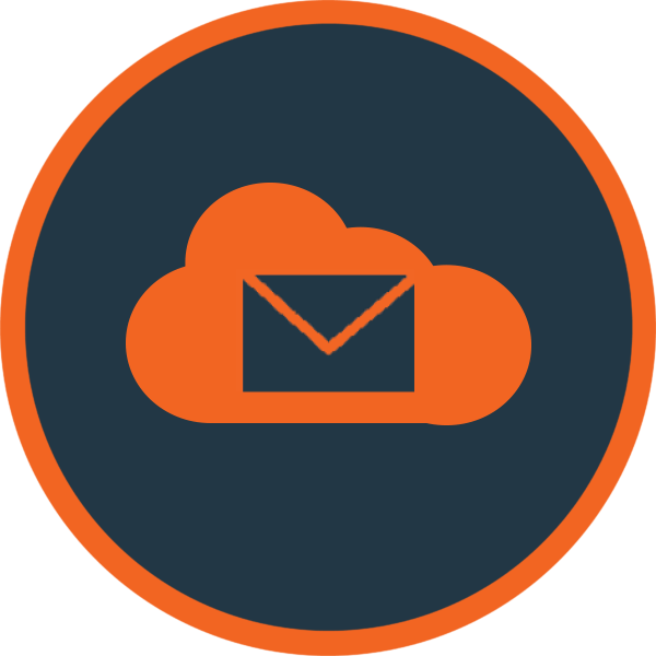 Cloud Email Orange Icon